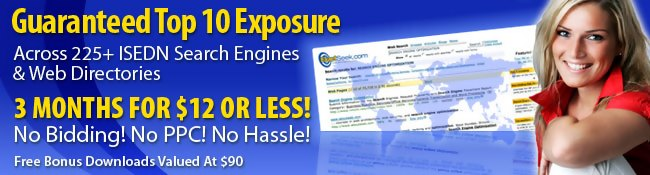 Top 10 Exposure Across 225+ Search Engines & Directories!