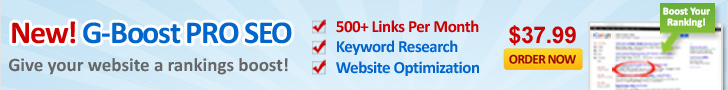 New G-Boost PRO SEO - Give Your Website a Rankings Boost!