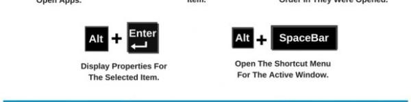 32 Keywboard Shortcuts For Windows
