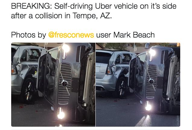 Uber Self-Driving Car Testing Screeches to Halt After Crash - SiteProNews