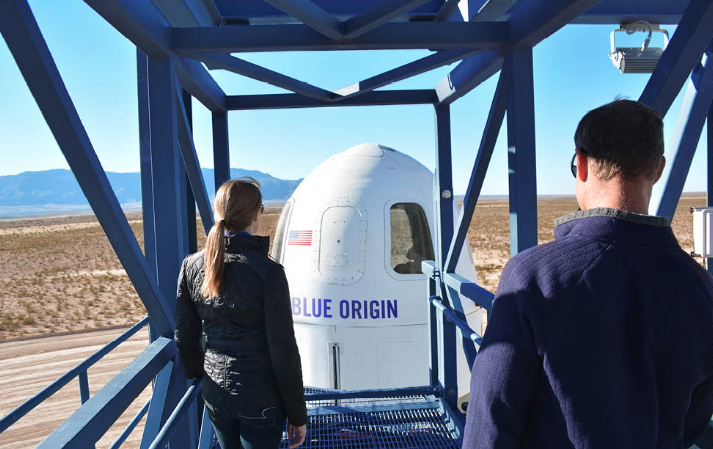 Blue origin training session.