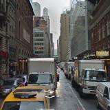 Street View image of West 43rd Street, midtown Manhattan New York City.