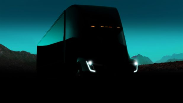 Tesla Announces Electric Semi-Truck and Flashy Roadster