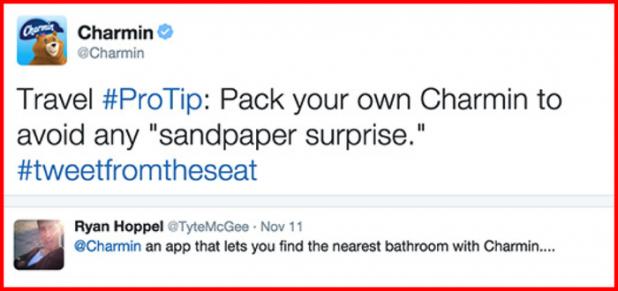 Hashtag Marketing Charmin Example