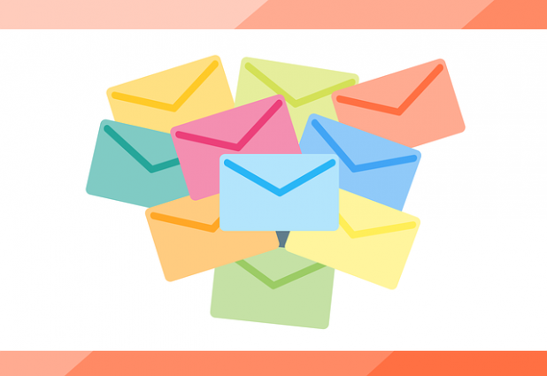Different colored envelopes