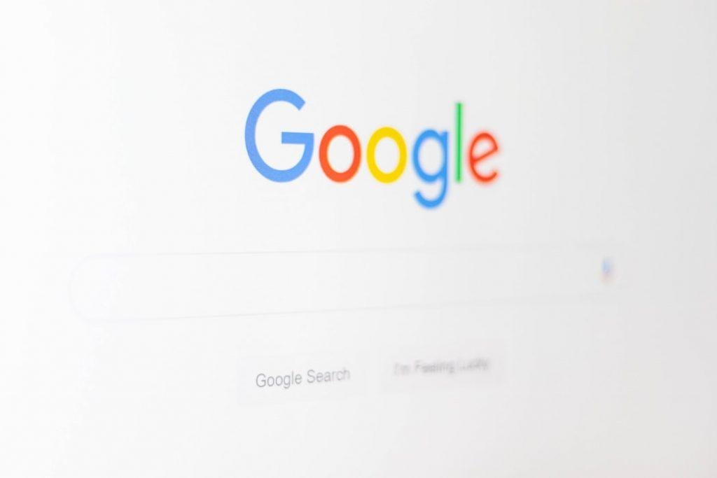 Google search home page.