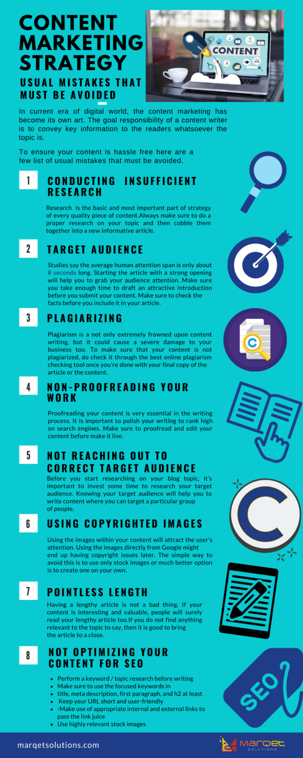 Content Marketing: 7 Common Mistakes You Need To Avoid [Infographic]